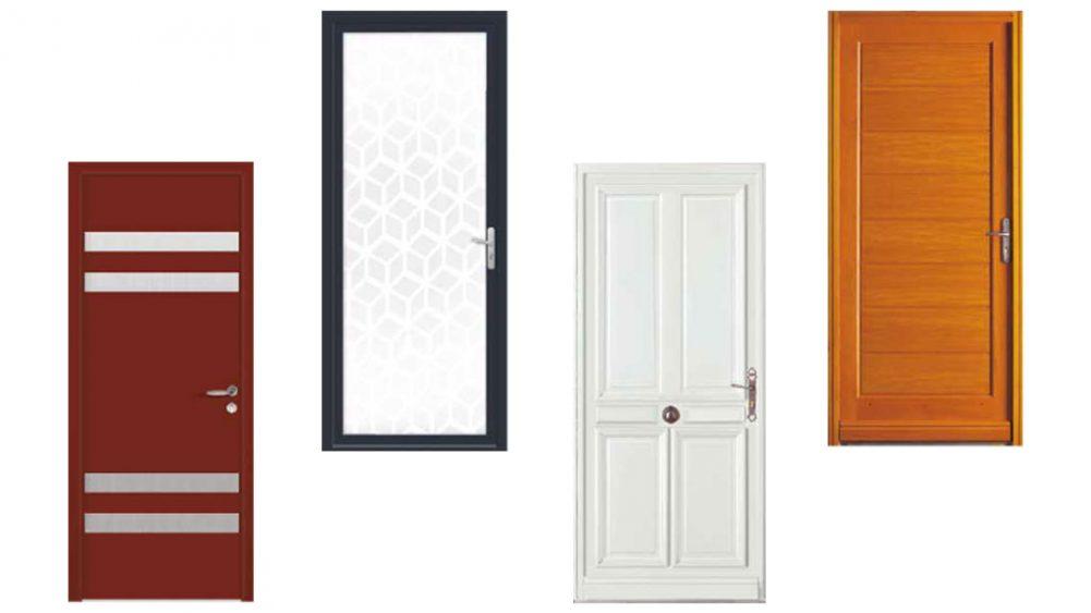 PVC, bois, alu, verre : les matériaux de porte