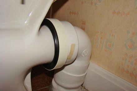 Fuite d'eau sur pipe de sortie de WC